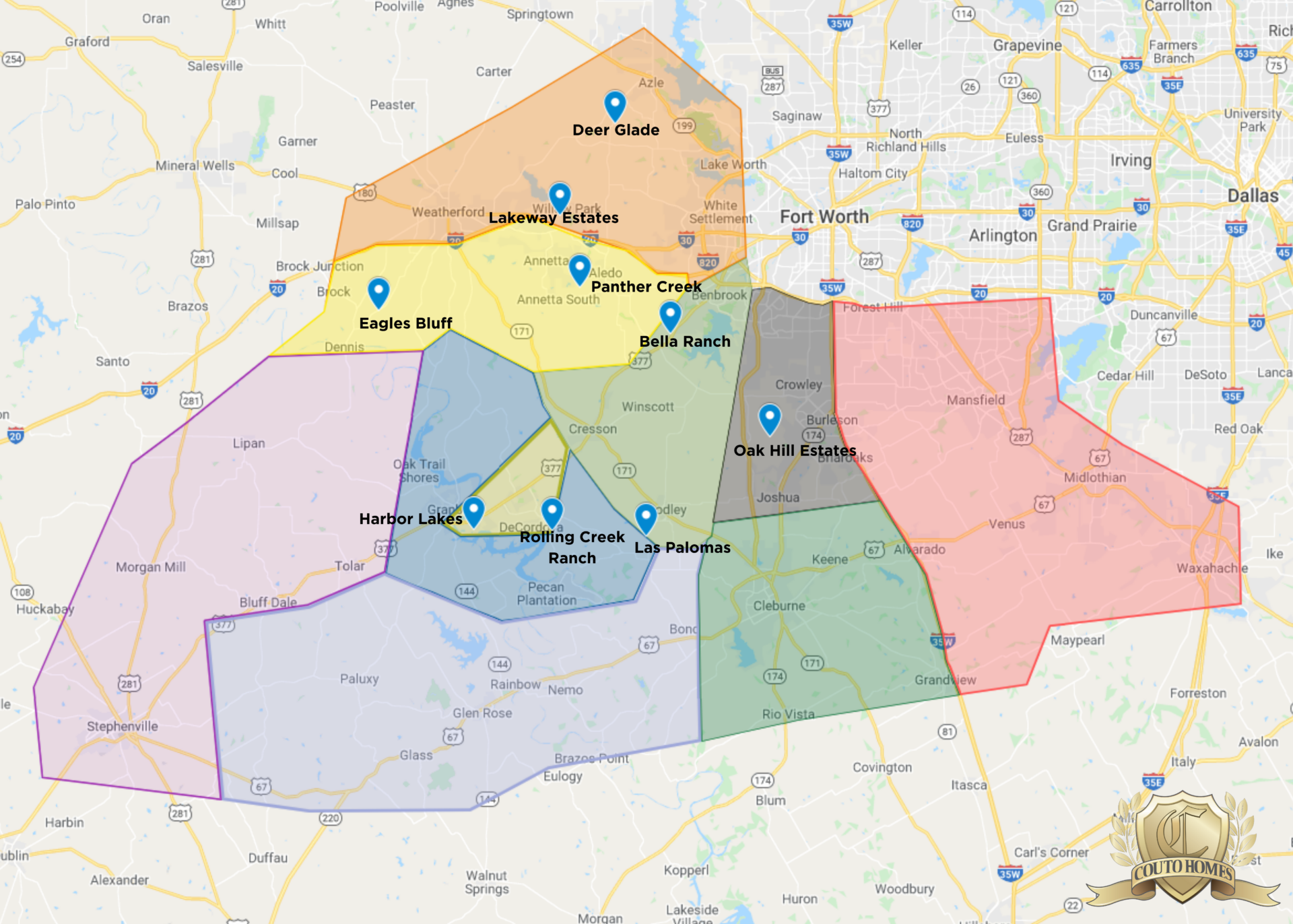 Homes for Sale – Territory Map
